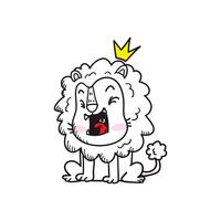 bonito pequeno tigre dos desenhos animados doodle vector