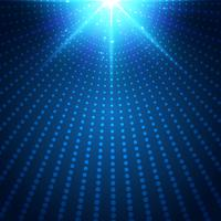 A luz radial de néon azul futurista abstrata da tecnologia estourou o efeito no fundo escuro. Meio-tom de círculos de elementos digitais.