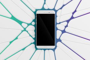 Modelo de smartphone colorido para publicidade, ilustração vetorial vetor