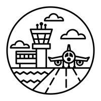 Ícone de vetor de aeroporto