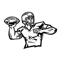 Jogador de futebol dos desenhos animados vetor