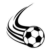 Ícone de vetor de bola de futebol