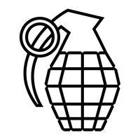 Ilustração vetorial de granada de mão vetor