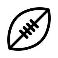 Ícone de vetor de futebol americano