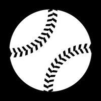 Ícone de vetor de beisebol