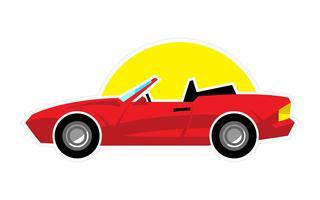 Carro esportivo conversível estilizado vetor