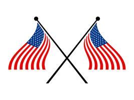 Bandeiras americanas vetor