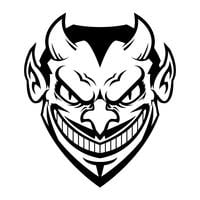 Cara do diabo vetor