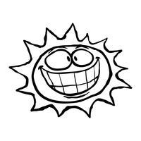 Sol dos desenhos animados vetor