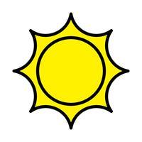 Sol, ícone vetor