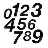 Números de blocos 3D vetor