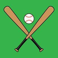 Bastão de beisebol vetor