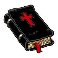 Ilustração do vetor de uma Bíblia Sagrada encadernada em couro.