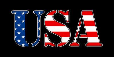 Ícone de vetor de texto EUA