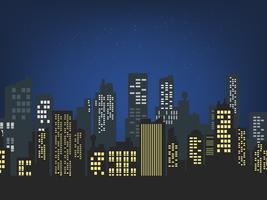 noite da paisagem urbana vetor