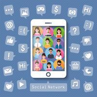 Conectando pessoas via rede social.