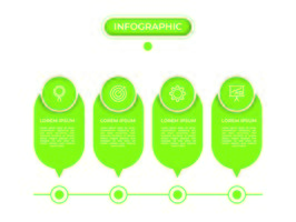 infográfico com etapas e opções