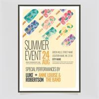 Cartaz de sorvete de verão vetor