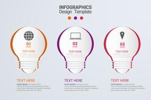 Infográfico com etapas e opções vetor