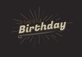 Tipografia de feliz aniversário em letras marrons vetor