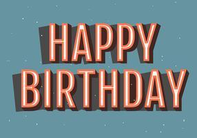 Tipografia de feliz aniversário em Backgorund azul claro vetor