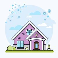Casa, vetorial, ilustração