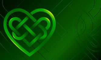 Ilustração em vetor coração nó celta