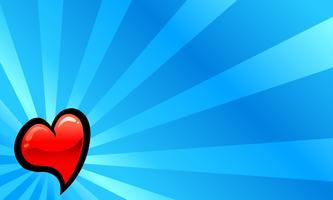 Coração, amor romântico, gráfico vetor