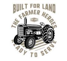 heróis do fazendeiro vetor