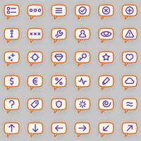 Ícones de mensagens