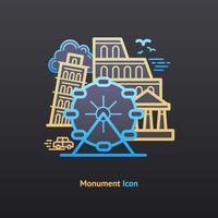 Ícone do monumento vetor
