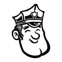Policial policial dos desenhos animados vetor