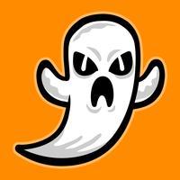 Fantasma dos desenhos animados vetor