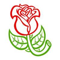 Bela flor rosa ilustração vetorial vetor