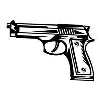 Ícone de vetor de arma