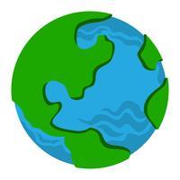 Globo terra planeta gráfico vetor