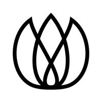 Ícone de vetor de flor tulipa