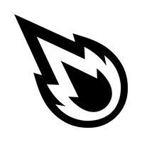 Desenhos animados de vetor de bola de fogo de chama quente