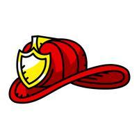 Capacete de bombeiro vetor