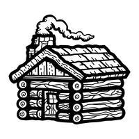 Cabana de madeira vetor