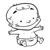 Desenho de criança criança de bebê vetor