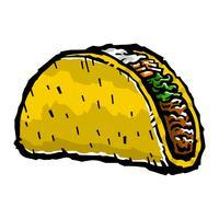 Taco, vetorial, ilustração vetor