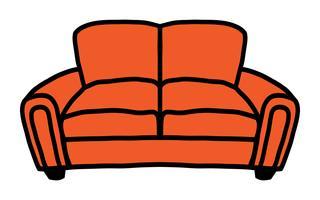 Ícone de vetor de sofá