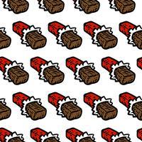 padrão sem emenda de barra de chocolate dos desenhos animados vetor