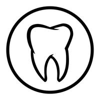 Dente, vetorial, ícone
