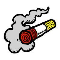 Ilustração do vetor de fumar cigarro