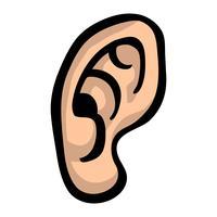 Ícone de vetor de orelha