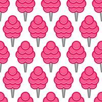 Desenhos animados de junk food fofo algodão doce vetor