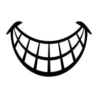 Grande feliz Toothy Cartoon Smile ícone vector
