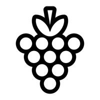 Bunch of Grapes Fruit Comida Lanche Saudável vetor